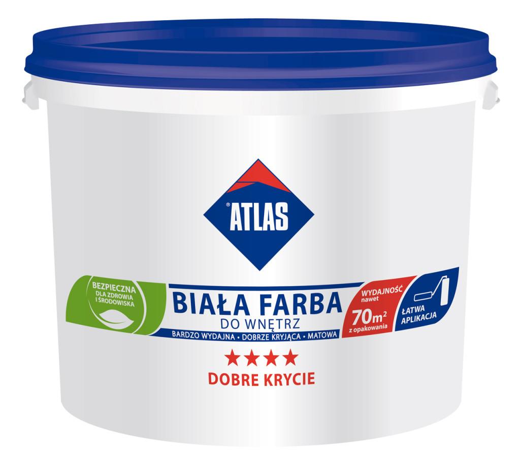 Biała Farba Akrylowa ATLAS do wnętrz. Fot. ATLAS