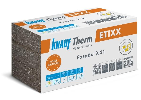Nowe płyty styropianowe EPS ETIXX wytwarzane w innowacyjnej technologii formowania w prasie Fot. Knauf Therm