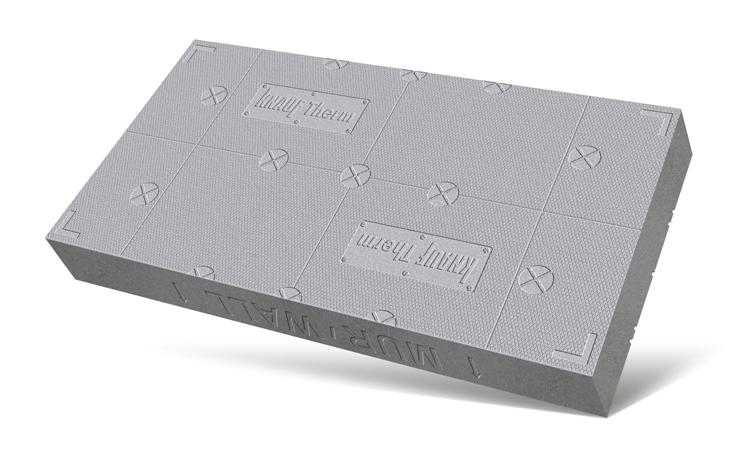 Na spodzie płyty ETIXX oznaczono punkty osadzania talerzy mocujących. Fot. Knauf Therm
