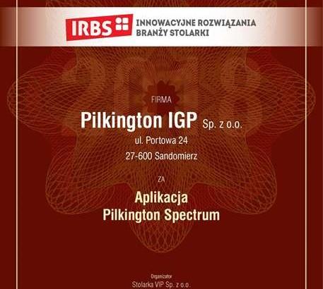 Aplikacja Pilkington Spectrum doceniona przez specjalistów